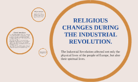 RELIGIOUS CHANGES DURING THE INDUSTRIAL REVOLUTION.