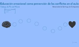 Educación emocional como prevención de los conflictos en el