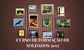 CURSO DE FORMAÇÃO DE SOLDADOS/2015