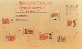 Religious manifestations in Peru: an overview