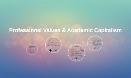 Professional Values and Academic Capitalism