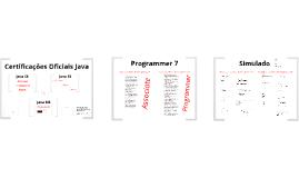 MC11 Certificações Oficiais Java