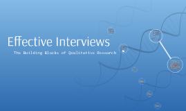 PREZI 3: Effective Interviews