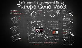 Europe Code Week - Language of things