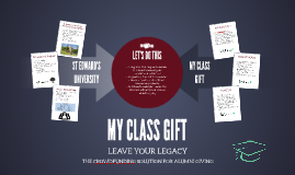 MY CLASS GIFT - ST EDWARDS