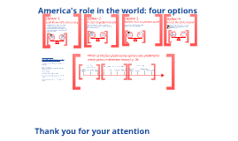 America's role in the world: four options