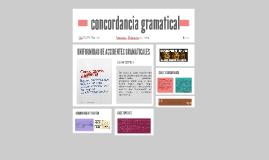 concordancia gramatical