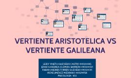 Copy of VERTIENTE ARISTOTELICA VS VERTIENTE GALILEANA