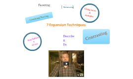 7 Expansion Techniques