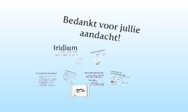 IRIDIUM presentatie voor projectenschouw