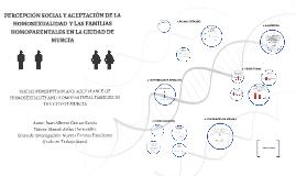 PERCEPCIÓN SOCIAL Y ACEPTACIÓN DE LA HOMOSEXUALIDAD  Y LAS F
