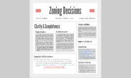 Zoning Decisions