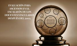 EVALUACIÓN PARA ASCENSOS EN EL ESCALAFÓN DE LOS DOCENTES VIN