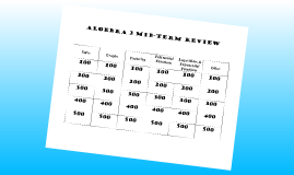 Algebra II Jepordy