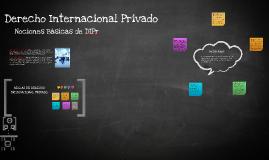 Nociones Básicas de Derecho Internacional Privado