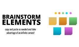 Free Brainstorming Elements by Joe Hester