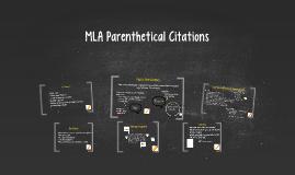 MLA Citations Mini Lesson