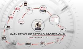 PAP - PROVA DE APTIDÃO PROFISSIONAL