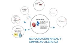 EXPLORACIÓN NASAL Y RINITIS NO ALÉRGICA