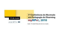 1ª Conferência do Mestrado em Pedagogia do Elearning