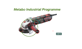 Metabo Industrial Programme 2014 - conference material