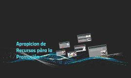 Copy of Apropicion de Recursos pàra la Promocion
