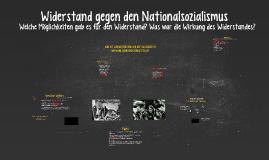 Widerstand im Nationalsozialismus