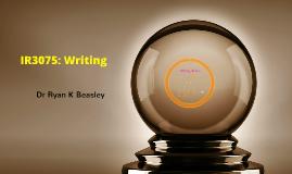 IR3075 Writing Tips Tricks Techniques
