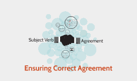Subject Verb-Agreement