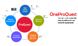Consortia and OneProQuest