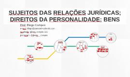 SUJEITOS DAS RELAÇÕES JURÍDICAS E