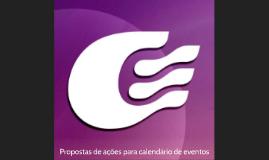 Propostas de ações para calendário de eventos