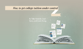 How to get college tuition under control