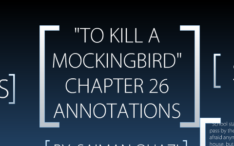 to kill a mockingbird annotations by chapter