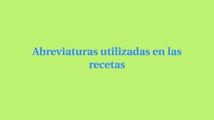 Las Abreviaturas By Linette Torres On Prezi