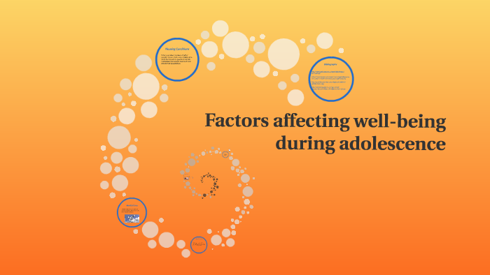 factors affecting well being