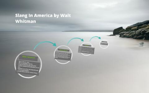 slang in america walt whitman pdf