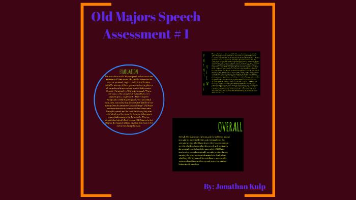 Old Majors Speech Assessment 1 By Jonathan Kulp Bestselling author @hfuiym, founder @rawsignalgroup, board @venturekidscan, dcp. prezi
