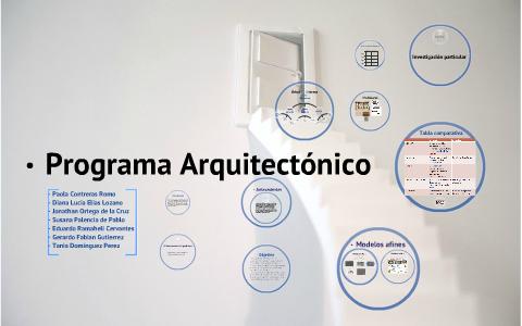 Programa arquitect nico by fabian gutierrez delgado on prezi for Programa de necesidades arquitectura