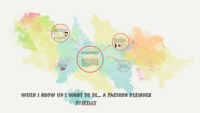 When I Grow Up I Want To Be A Fashion Designer By Kelly Ho