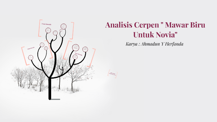 Analisis Cerpen Mawar Biru Untuk Novia Ahmadun Y Herfan By On Prezi