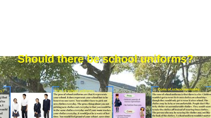 Should School Uniforms Be Mandatory by S G on Prezi
