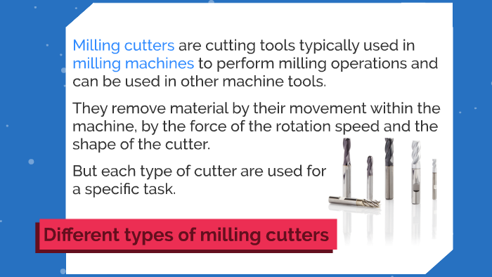 Different types of tools in a milling machine by Julien