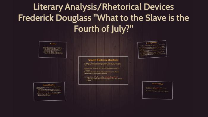 frederick douglass 4th of july speech analysis