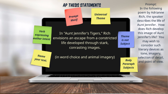 thesis for aunt jennifers tigers