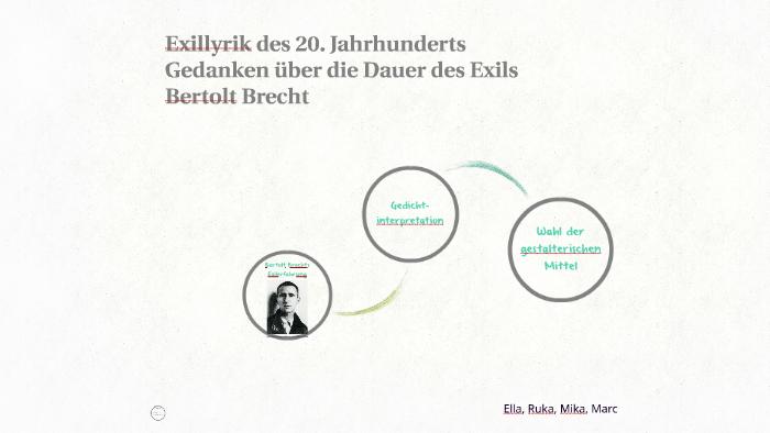 Exillyrik Des 20 Jahrhunderts By Ella Holuba On Prezi