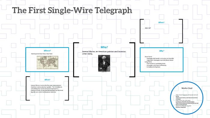 Outstanding The First Single Wire Telegraph By Kayla Gorman On Prezi Wiring Cloud Nuvitbieswglorg