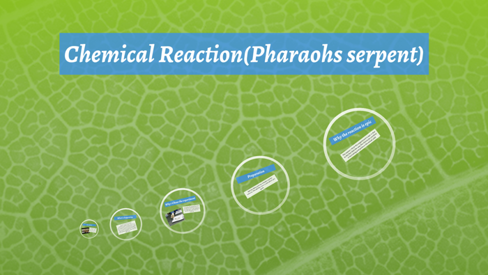 chemical reaction pharaohs serpent by andrew shah on prezi
