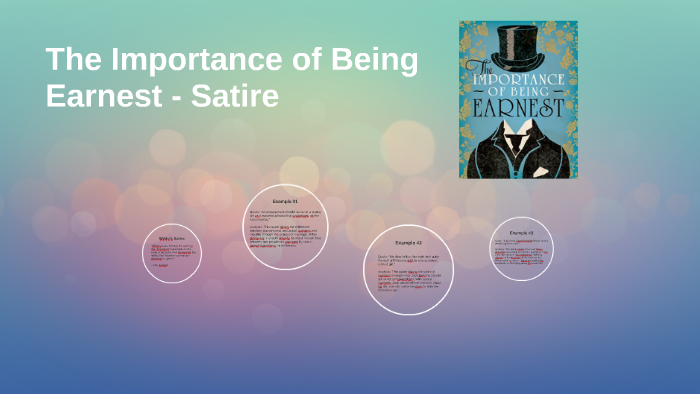 the importance of being earnest satire examples