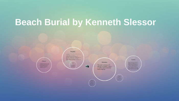 beach burial kenneth slessor analysis  analysis of the
